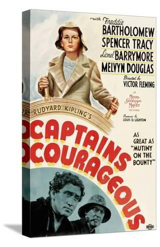Captains Courageous, Freddie Bartholomew, Spencer Tracy, Lionel Barrymore, 1937--Stretched Canvas Print