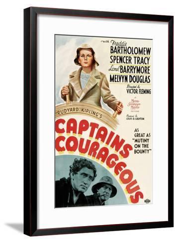 Captains Courageous, Freddie Bartholomew, Spencer Tracy, Lionel Barrymore, 1937--Framed Art Print