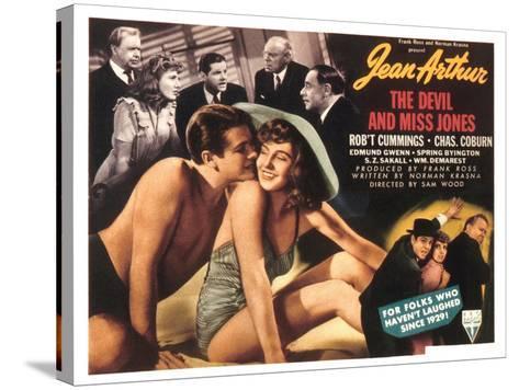 The Devil And Miss Jones, Robert Cummings, Jean Arthur, 1941--Stretched Canvas Print