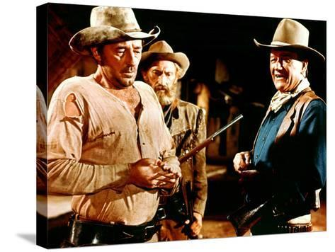 El Dorado, Robert Mitchum, Arthur Hunnicutt, John Wayne, 1967--Stretched Canvas Print