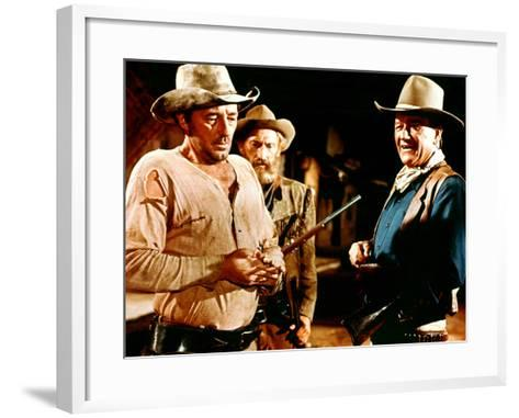 El Dorado, Robert Mitchum, Arthur Hunnicutt, John Wayne, 1967--Framed Art Print