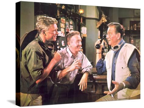 Hatari!, Hardy Kruger, Red Buttons, John Wayne, 1962--Stretched Canvas Print