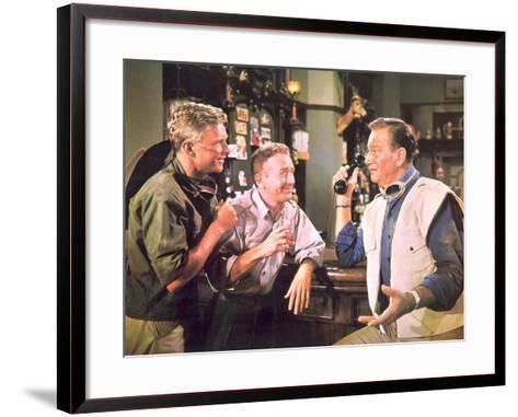 Hatari!, Hardy Kruger, Red Buttons, John Wayne, 1962--Framed Art Print