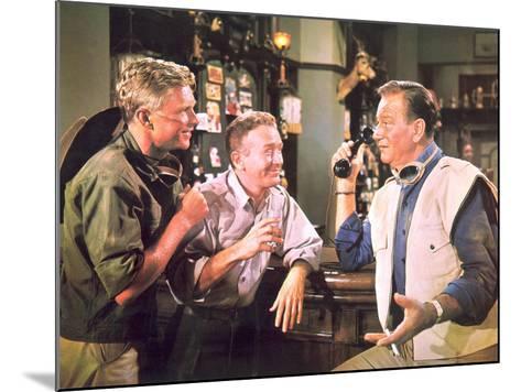Hatari!, Hardy Kruger, Red Buttons, John Wayne, 1962--Mounted Photo