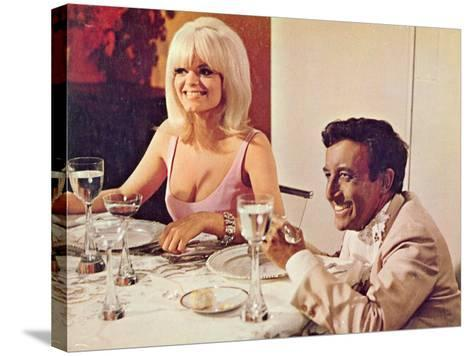 The Party, Carol Wayne, Peter Sellers, 1968--Stretched Canvas Print