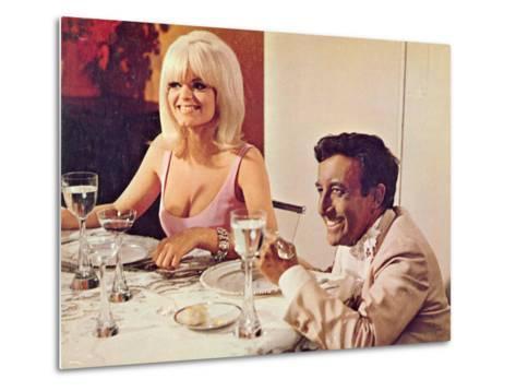 The Party, Carol Wayne, Peter Sellers, 1968--Metal Print
