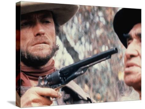 The Outlaw Josey Wales, Clint Eastwood, Chief Dan George, 1976--Stretched Canvas Print