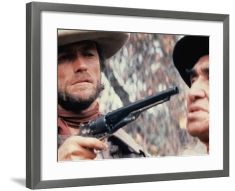 The Outlaw Josey Wales, Clint Eastwood, Chief Dan George, 1976--Framed Art Print
