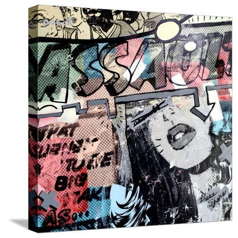 Assault-Dan Monteavaro-Stretched Canvas Print