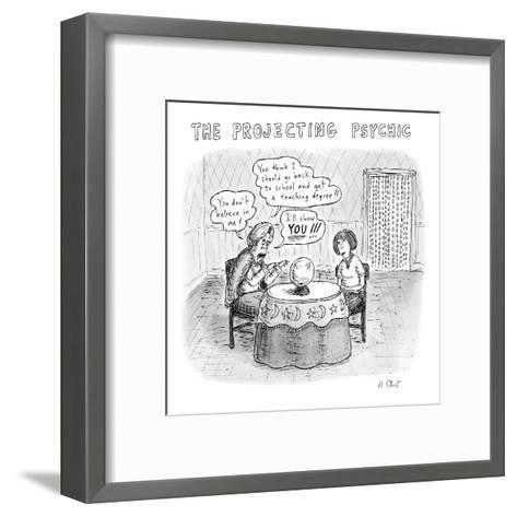 The Projecting Psychic - New Yorker Cartoon-Roz Chast-Framed Art Print
