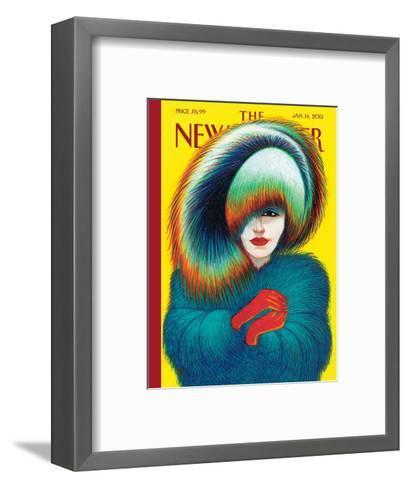 The New Yorker Cover - January 14, 2013-Lorenzo Mattotti-Framed Art Print