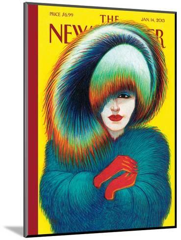 The New Yorker Cover - January 14, 2013-Lorenzo Mattotti-Mounted Premium Giclee Print