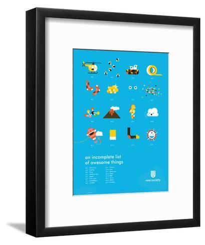 You Know What's Awesome? List (Blue)-Wee Society-Framed Art Print