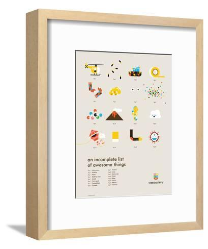 You Know What's Awesome? List (Gray)-Wee Society-Framed Art Print