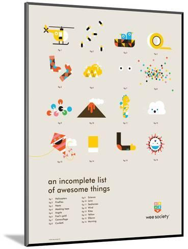 You Know What's Awesome? List (Gray)-Wee Society-Mounted Giclee Print