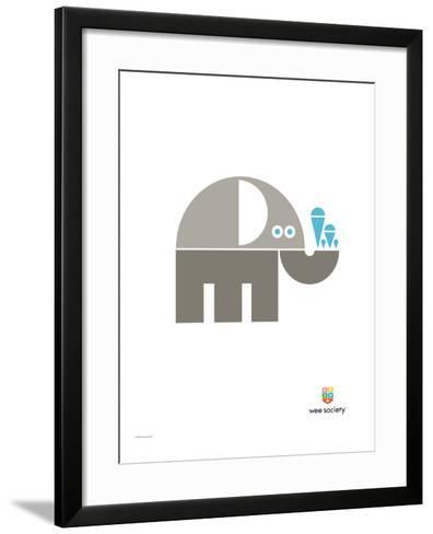 Wee Alphas, Eli the Elephant-Wee Society-Framed Art Print