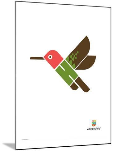 Wee Alphas, Hai the Hummingbird-Wee Society-Mounted Giclee Print