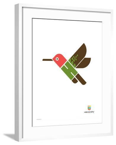 Wee Alphas, Hai the Hummingbird-Wee Society-Framed Art Print