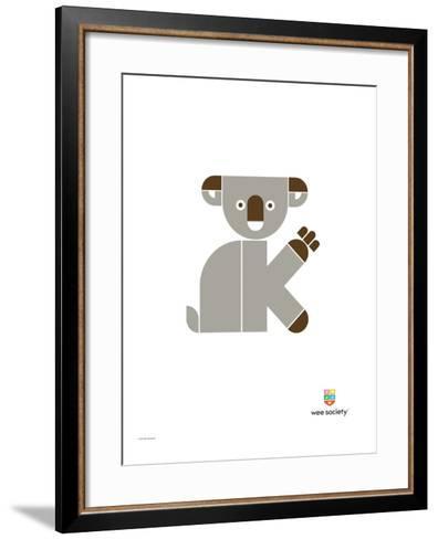 Wee Alphas, Kate the Koala-Wee Society-Framed Art Print