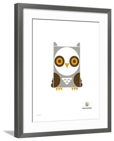 Wee Alphas, Ollie the Owl-Wee Society-Framed Art Print