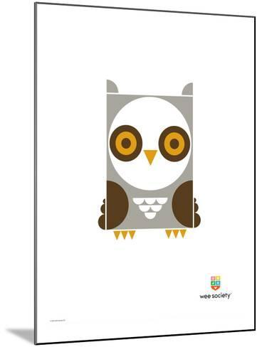 Wee Alphas, Ollie the Owl-Wee Society-Mounted Giclee Print