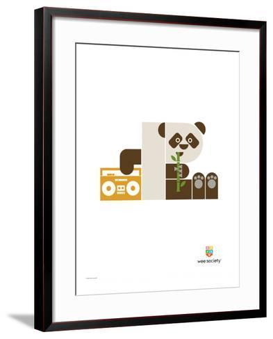 Wee Alphas, Polly the Panda-Wee Society-Framed Art Print
