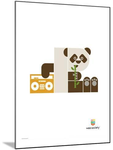 Wee Alphas, Polly the Panda-Wee Society-Mounted Giclee Print