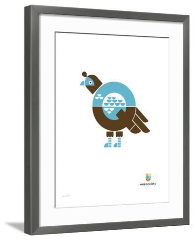 Wee Alphas, Quinnlyn the Quail-Wee Society-Framed Art Print