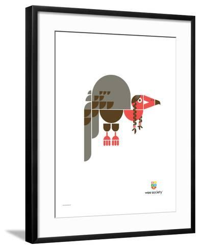 Wee Alphas, Violet the Vulture-Wee Society-Framed Art Print