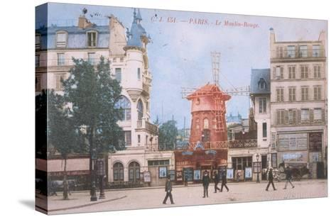 1904 Carte Postal Moulin Rouge--Stretched Canvas Print