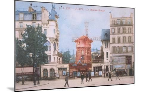 1904 Carte Postal Moulin Rouge--Mounted Giclee Print