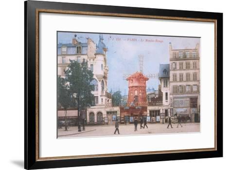 1904 Carte Postal Moulin Rouge--Framed Art Print