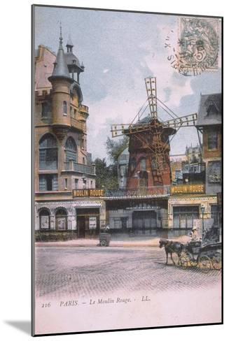 1906 carte postale Moulin Rouge--Mounted Giclee Print
