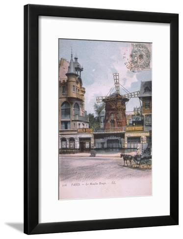 1906 carte postale Moulin Rouge--Framed Art Print