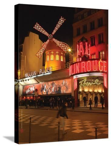 2010 Place Blanche Moulin Rouge--Stretched Canvas Print