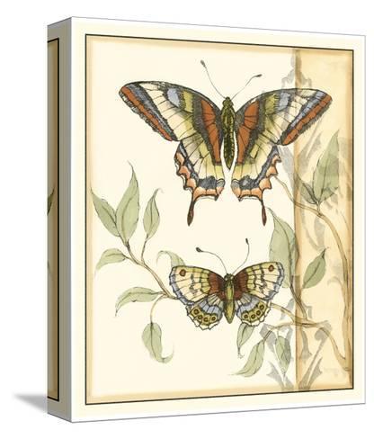 Tandem Butterflies II-Jennifer Goldberger-Stretched Canvas Print