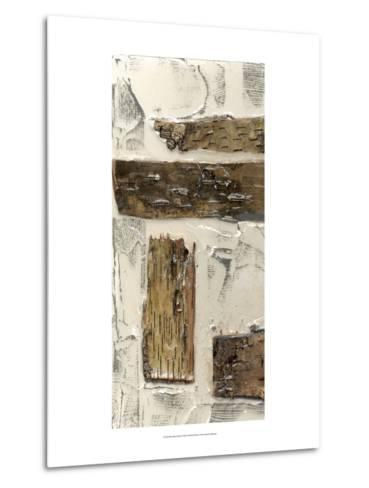 Birch Bark Abstract I-Jennifer Goldberger-Metal Print