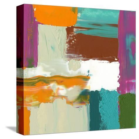 Neon City III-Jennifer Goldberger-Stretched Canvas Print