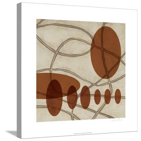 Earthen Ovals II-Jennifer Goldberger-Stretched Canvas Print