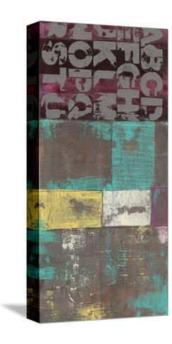Letters and Paint II-Jennifer Goldberger-Stretched Canvas Print