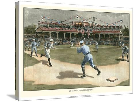 National League Game 1886-Snyder-Stretched Canvas Print