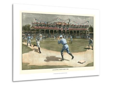 National League Game 1886-Snyder-Metal Print
