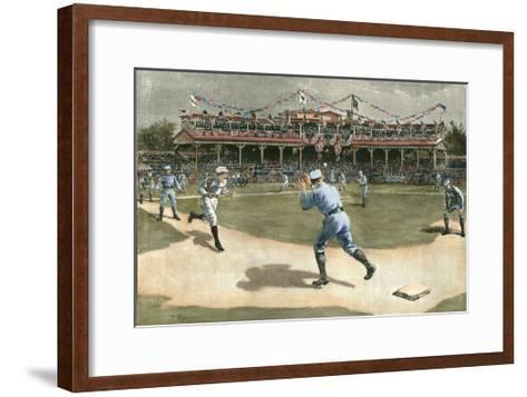 National League Game 1886-Snyder-Framed Art Print