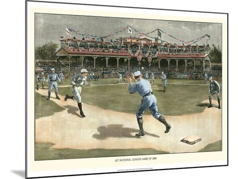 National League Game 1886-Snyder-Mounted Art Print