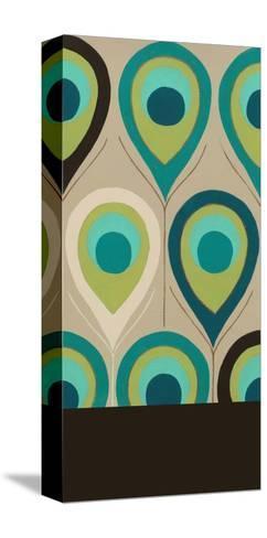 Peacock Regalia II-Erica J^ Vess-Stretched Canvas Print