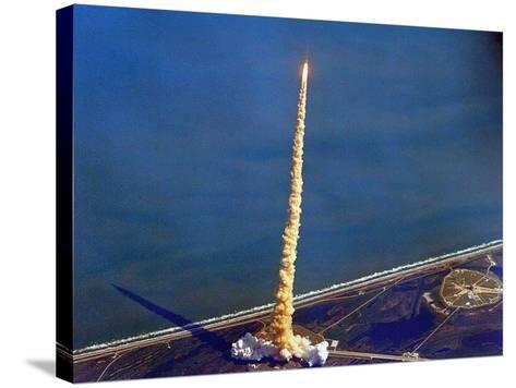 Space Shuttle Columbia on a Pillar of Exhaust as it Begins its Ten-Day Mission on Oct 22, 1992--Stretched Canvas Print