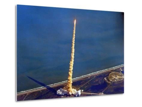 Space Shuttle Columbia on a Pillar of Exhaust as it Begins its Ten-Day Mission on Oct 22, 1992--Metal Print