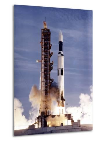Launch of Skylab on a Two-Stage Saturn V Missile--Metal Print