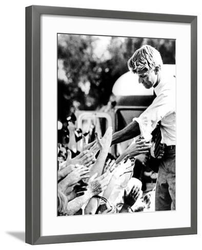 Robert Kennedy Shaking Hands During 1968 Campaign--Framed Art Print