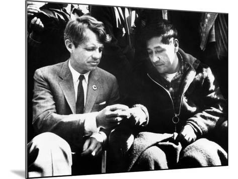 Cesar Chavez Ends His Hunger Strike with Sen Robert Kennedy--Mounted Photo